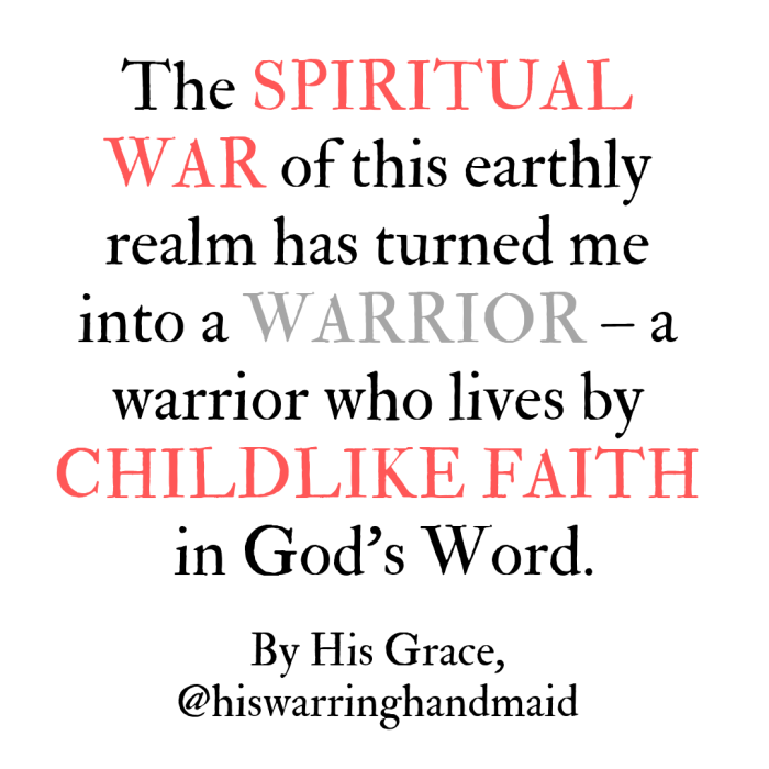 warrior childlike faith